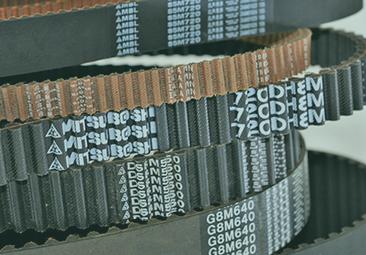 Foto mostrando algumas Correias Sincronizadoras da Mitusboshi